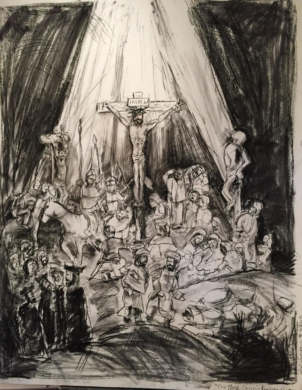 Charcoal - Holy Week, 2015